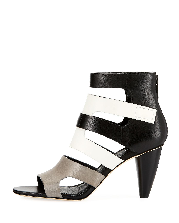 Donald Pliner Paula Caged ColorBlock Dress Sandals S0xN4tx0H