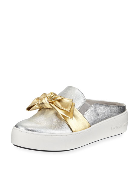 Willa Two-Tone Metallic Platform Mule Sneaker