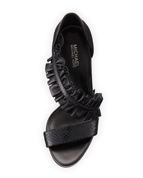 Bella Asymmetric Platform Sandal