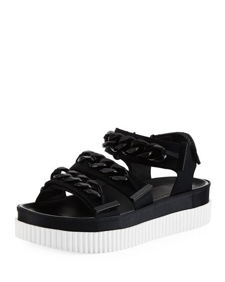 Ivie 3 Curb-Chain Sandal