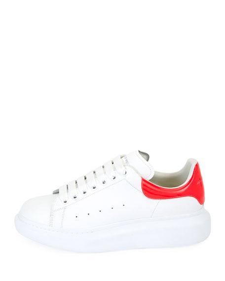 Pelle Lace-Up Platform Low-Top Sneaker