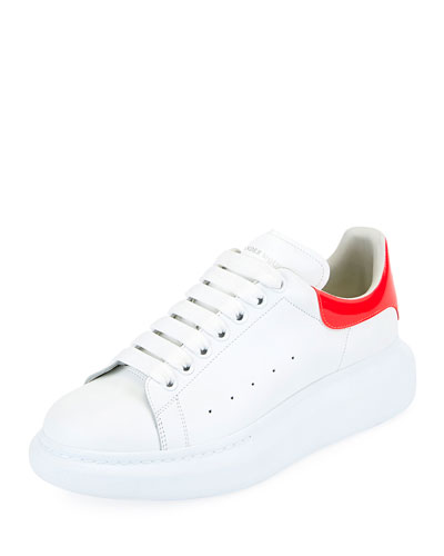 Pelle Lace-Up Platform Low-Top Sneaker