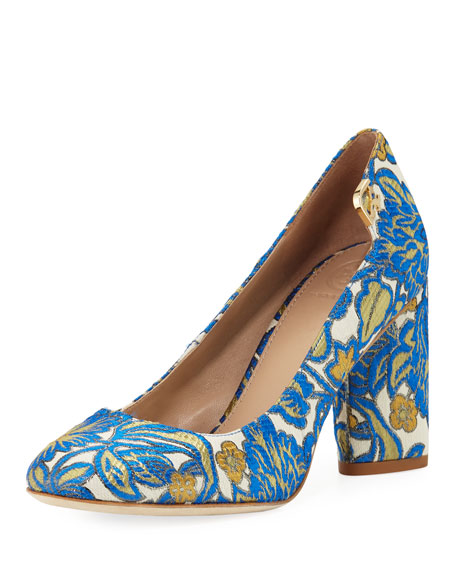 Elizabeth Brocade 85mm Pump