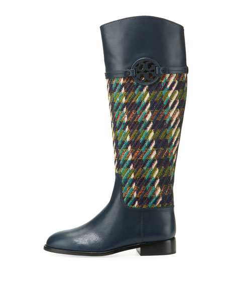 Miller Tweed/Leather Knee Boot