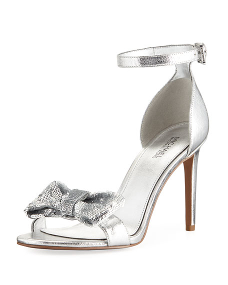 MICHAEL Michael Kors Paris Metallic Sandal with Sequined