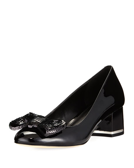 MICHAEL Michael Kors Paris Patent Mid-Heel Pump with