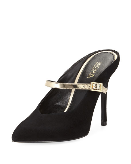 MICHAEL Michael Kors Tiegan Suede Mule with Metallic