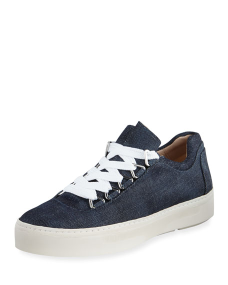 Gaming Lace-Up Denim Sneakers