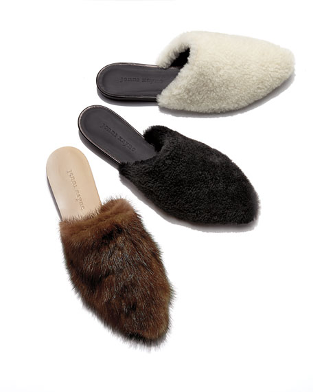 Soft Shearling Flat Mule