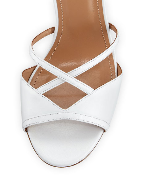 Nathalie 105mm Crisscross Leather Sandal