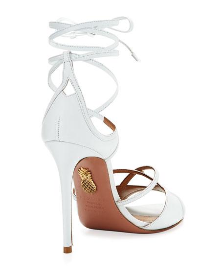 Nathalie 105mm Crisscross Leather Sandal