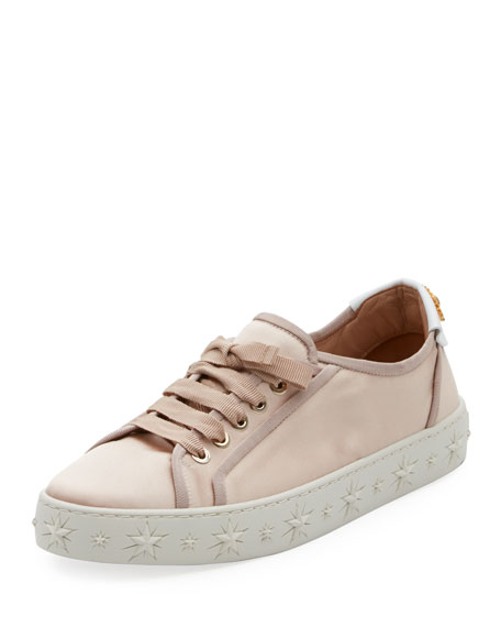 L.A. SATIN STAR-PLATFORM SNEAKERS