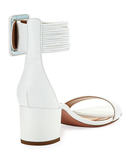 Casablanca 50mm Leather Ankle-Strap Sandal