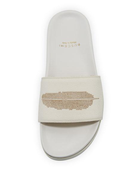 Feather Stud Slide Sandal