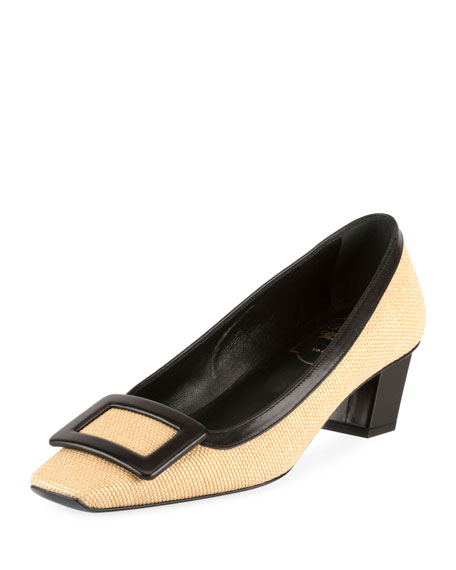Belle Vivier 45mm Straw Pump