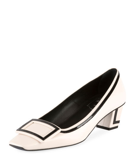Belle Vivier Graphic 45mm Leather Pump