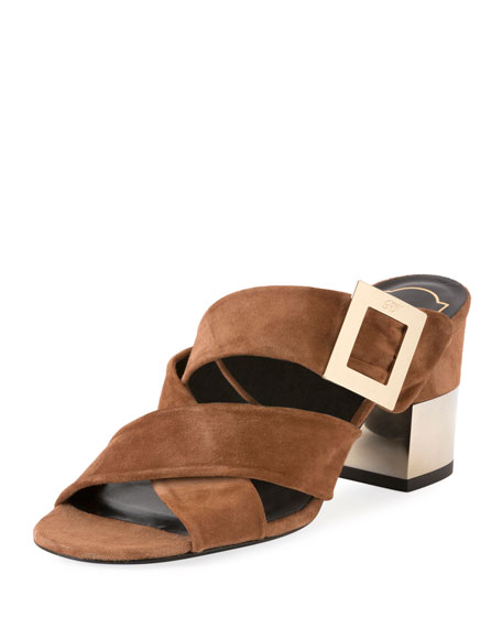 Roger Vivier Suede sandals Cheap Manchester Amazing Price Discount Wiki Cheap Best Prices Outlet Geniue Stockist AWvxkVb9WI