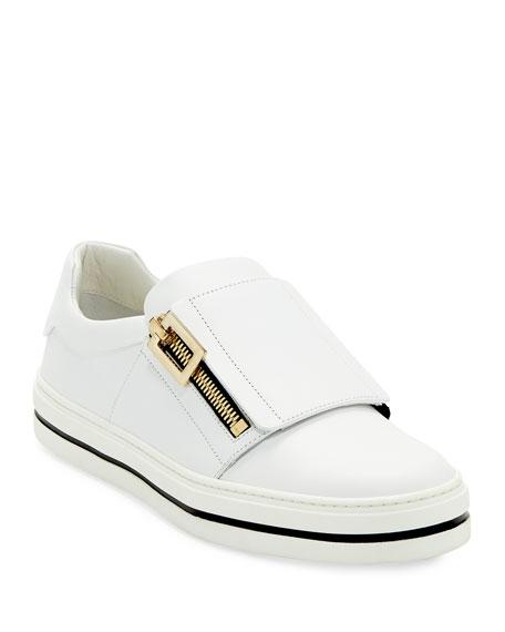 Sneaky Viv Leather Zip Sneakers