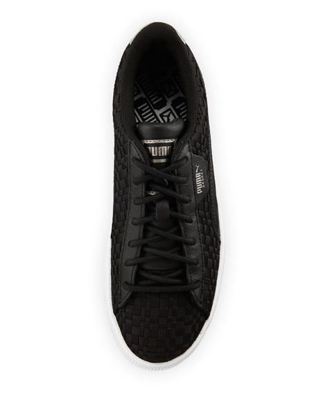Basket Woven Satin Sneakers