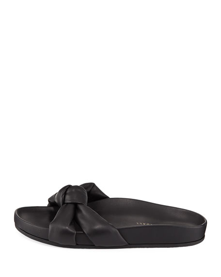 Gertie Leather Knot Pool Slide Sandal