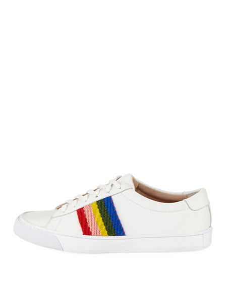 Logan Rainbow Leather Low-Top Sneakers