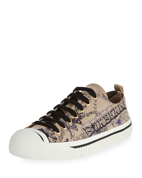 Burberry Kingly Low-Top Sketchbook Sneaker, Honey