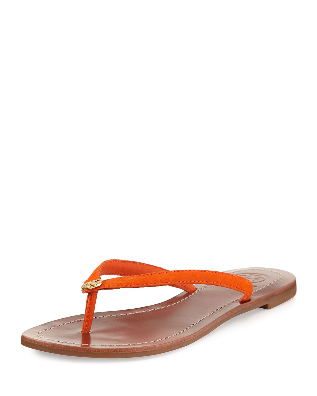 ed5f0e84b42d Tory Burch Terra Flat Leather Thong Sandal