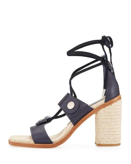 Eden Lace-Up Raffia Sandal