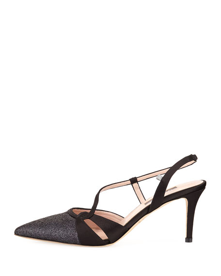 Quinn Asymmetric Satin Pump