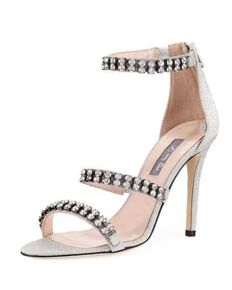 Orbit Glitter Embellished High Sandal