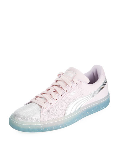 Suede Glitter Princess Sneakers