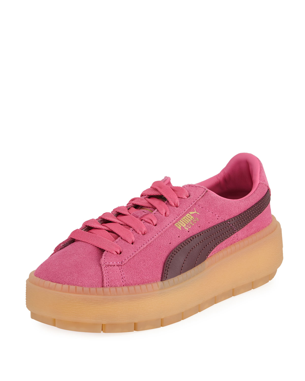 2d4676854dc4 Puma Trace Women s Suede Platform Sneakers