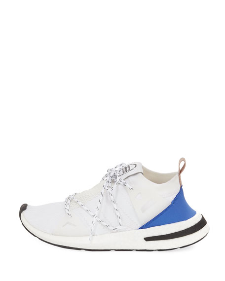 Arkyn Colorblock Mesh Sneakers, White/Ash Pearl