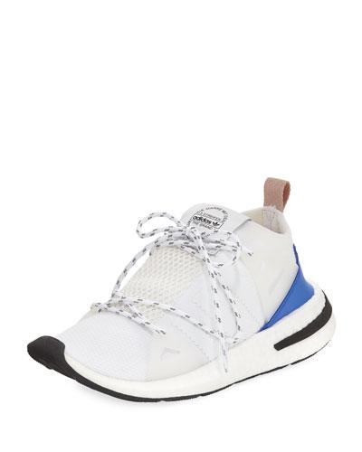 Arkyn Colorblock Mesh Sneaker, White/Ash Pearl