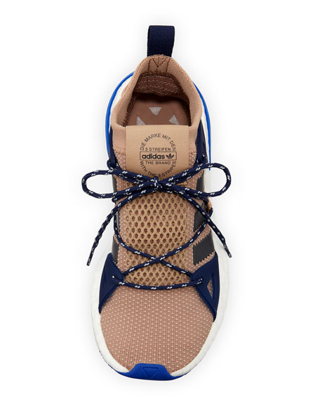 Arkyn Colorblock Mesh Sneakers, Ash/Pearl Gray
