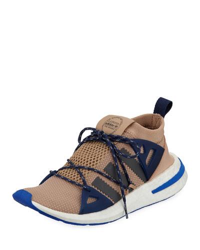 Arkyn Colorblock Mesh Sneaker, Ash/Pearl Gray