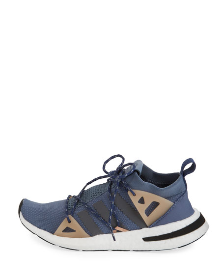 Arkyn Colorblock Mesh Sneakers, Raw Steel/Ash/Pearl Gray