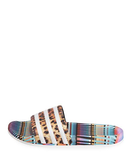 8bcfafd18077 Adidas Adilette Bright Leopard-Print Pool Slide Sandals | Neiman Marcus