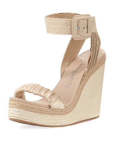Teodora Ankle-Strap Platform Sandal