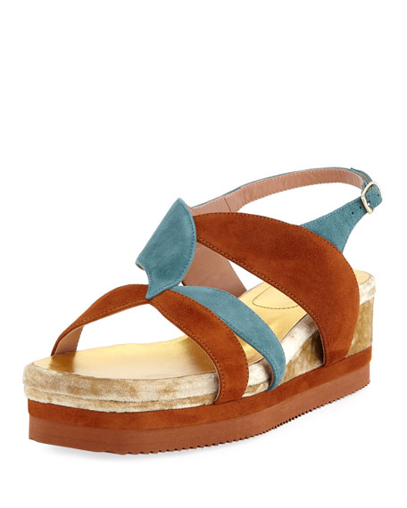 Dries Van Noten Flatform Wedge Platform Sandal