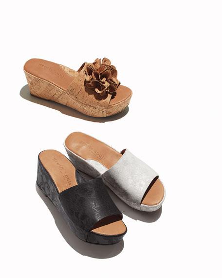 Forella Floral Wedge Platform Sandal