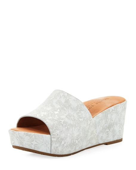Gentle Souls Forella Floral Wedge Platform Sandal