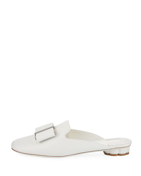 Sciacca Leather Bow Slide Mule