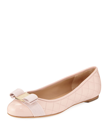Varinaq Quilted Ballet Flat with Bow