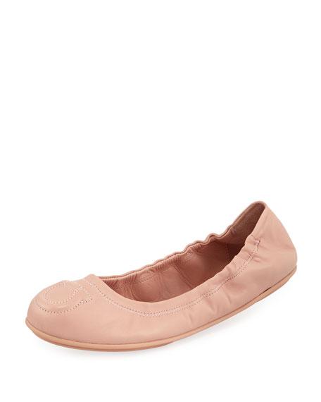 Salvatore Ferragamo Gancio-Quilted Ballerina Flat