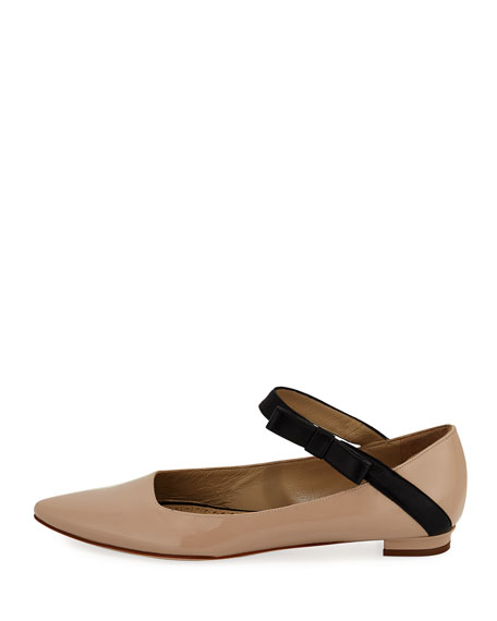 Immaculada Leather Mary Jane Flat