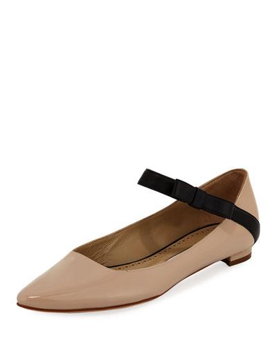 Immaculada Leather Mary Jane Flat
