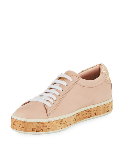 amy cork embellished sneaker, blush