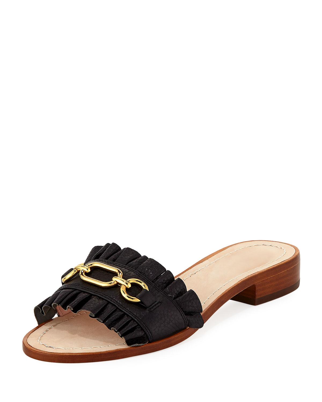 c2832af5cdd2 kate spade new york beau pebbled chain slide sandal