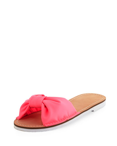 indi fabric slide sandal, pink